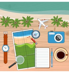 Planning travel concept vector