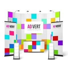 Exhibition stand bright design vector