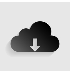 Cloud technology sign black paper with shadow on vector
