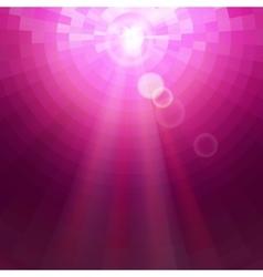 Abstract pink concentric circle shine mosaic vector