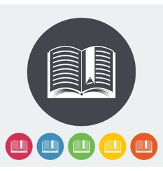 Book Single flat icon vector image