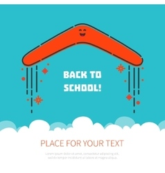 Boomerang flying back to school vector