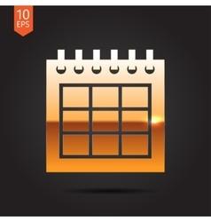 Calendar icon epsgold0 vector