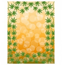 cannabis frame vector image vector image