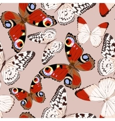 Colorful butterflies seamless vector image