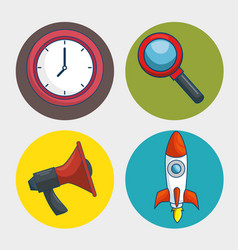 Digital marketing technology icon vector
