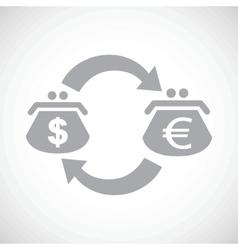 Dollar euro exchange black icon vector image