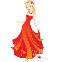 evening wear vector image
