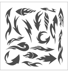 Fire arrows - set vector image vector image