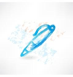 fountain pen grunge icon vector image