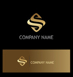 gold letter s company logo vector image vector image