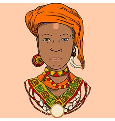 graphic of the African girl vector image vector image