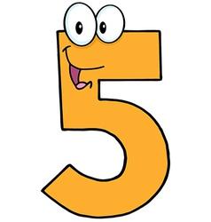 Happy Number Five vector image