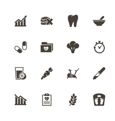 healthy lifestyle - flat icons vector image vector image