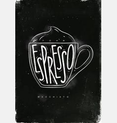 Macciato cup chalk vector
