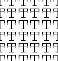 Pattern letter t vector