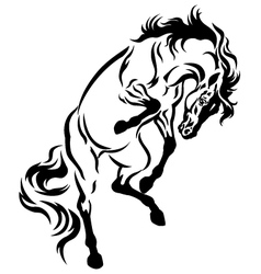 Rearing horse tattoo vector