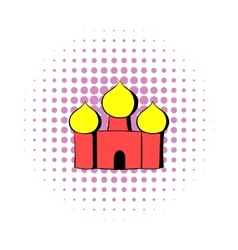Saint basils cathedral moscow russia icon vector
