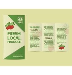 Summer farm fresh flyer template or brochure vector