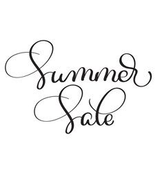 Summer sale vintage text on white vector