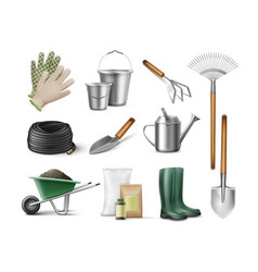 tools for gardening vector image vector image