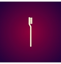 toothbrush icon Modern design flat style vector image