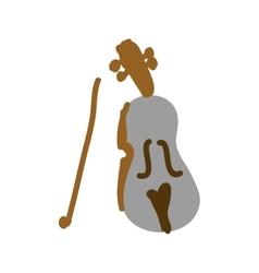 Violin instrument icon image vector