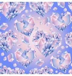 Watercolor crystal pattern vector image vector image