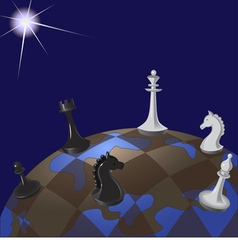 world chessboard vector image vector image