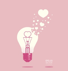 light bulb of love concept vector image