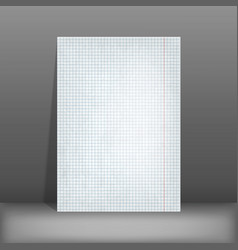 Squared paper blank design sheet a4 vector