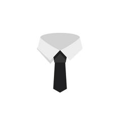 Isolated cravat flat icon textile element vector