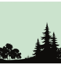 Seamless landscape night forest silhouettes vector image