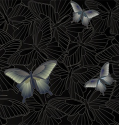 Wallpaper background with a butterfly vector