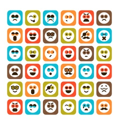 Set of emotional icons vector