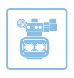 3d movie camera icon vector