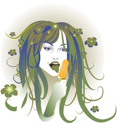 artistic woman vector image