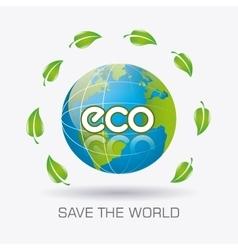 Go green ecology design vector