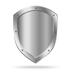 Classic empty metal shield isolated vector