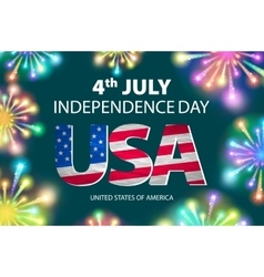 Independence day of the usa typographical vector