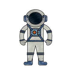 astronaut cartoon isolated vector image vector image