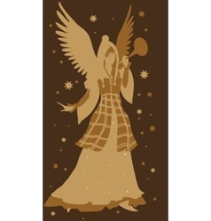 Beautiful angel silhouette vector image vector image