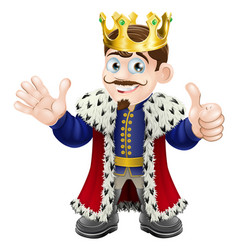 Cartoon king mascot vector