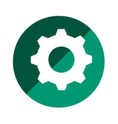 color circular emblem with gear vector image