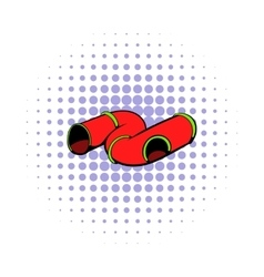 Colorful tube a playground icon comics style vector image vector image