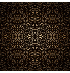 Dark gold pattern vector image vector image