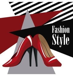 fashion style accessory red heel wo vector image vector image