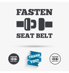 Fasten seat belt sign icon Safety accident vector image vector image