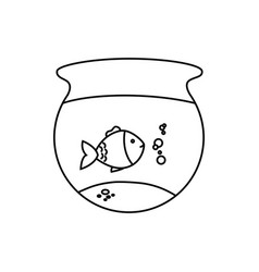 fish aquarium pet isolated icon vector image vector image