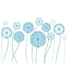 flower dandelion sketch vector image